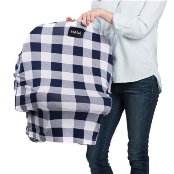 Milk Snob Other - Milk Snob Cover Navy Plaid NWOT